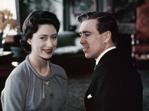 La princesa Margarita y Anthony Armstrong Jones en 1960.