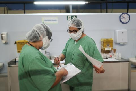Profesionales sanitarios en Braasil