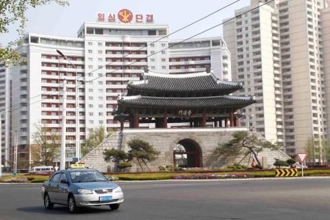 La puerta de Pothong en Pyongyang, Corea del Norte, se ve el martes 28 de abril de 2020.