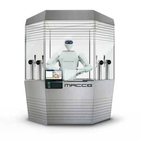 Un quiosco automatizado de Macco.