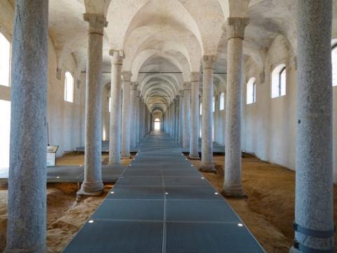 El castillo está ubicado en Milán, Italia.
