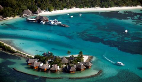 Un resort turístico en Male, capital de las islas Maldivas