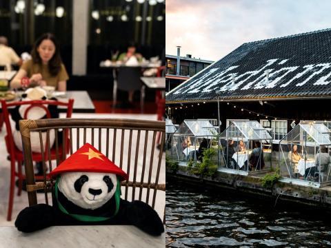Los restaurantes han encontrado nuevas formas de ayudar a los clientes a mantener la distancia social.