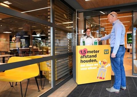 Restaurants have not yet reopened in the Netherlands, but if they do, customers will need to stay 1.5 meters or 5 feet away from each other.