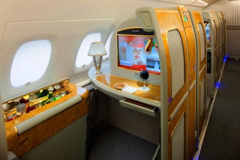 A private suite in Emirates' First Class.