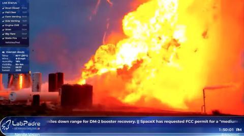 Starship, el cohete de SpaceX, explota durante una prueba