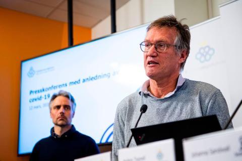 Anders Tegnell, epidemiólogo, en una conferencia de prensa el 12 de marzo.
