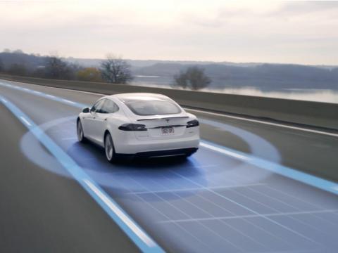 Un Tesla Model S.
