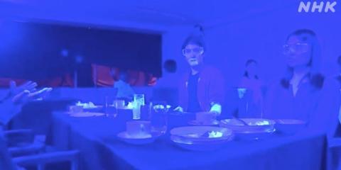 Este vídeo con luz ultravioleta muestra hasta qué punto un virus puede extenderse entre 10 personas en un restaurante