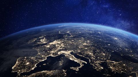 Vista del cielo y la Tierra