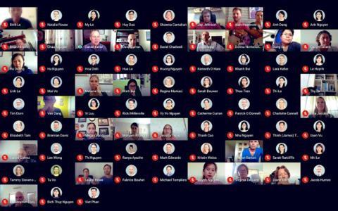 Vista cuadriculada Google Meet