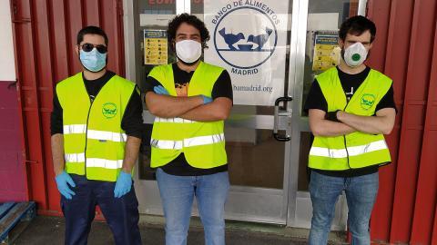 Voluntarios en el Banco de Alimentos