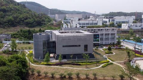 60/5000 El Instituto de Virología de Wuhan, fotografiado el 17 de abril de 2020.