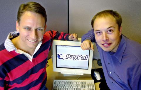 Peter Thiel y Elon Musk.