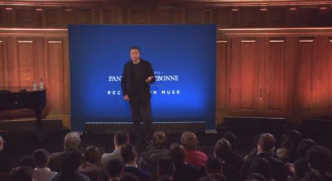 """13. Elon Musk's speech in Paris calling for a carbon tax. In late 2015, Musk gave an important speech at the Sorbonne in Paris, demanding a price on pollution. """"We have to fix the unpriced externality,"""" he told the audience."""