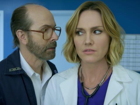 "Erinn Hayes costars in ""Medical Police."""