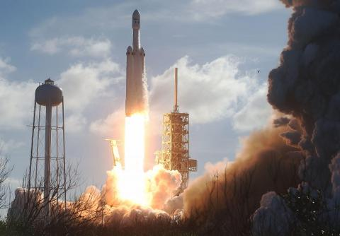 21. The SpaceX Falcon Heavy launches ...