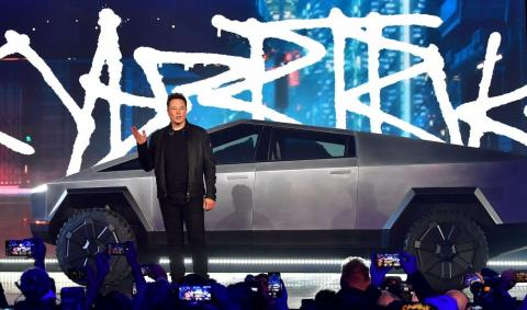 23. The Cybertruck blows minds. At the end of 2019, Tesla made good on its promise to create a pickup truck. But nobody was prepared for the stainless-steel beast, which looked like it was borrowed from the future.