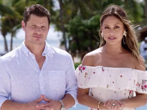 """Nick and Vanessa Lachey host """"Love is Blind."""""""
