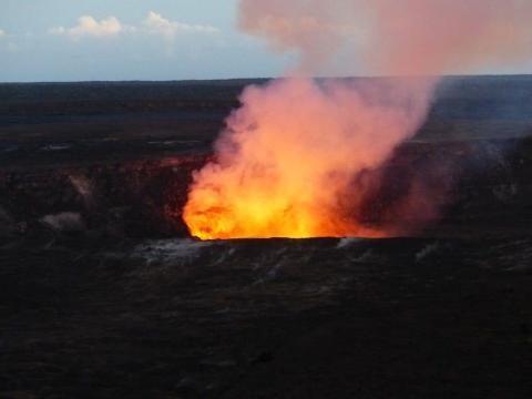 El área del Monte Kilauea es de aproximadamente 9,5 kilómetros cuadrados.