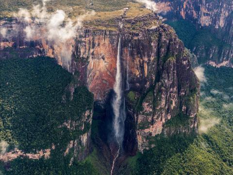 El Salto Ángel es Patrimonio de la Humanidad de la UNESCO.