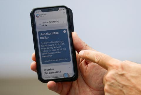App de rastreo de Alemania.