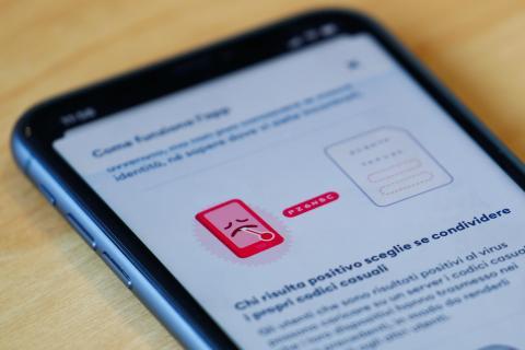 App de rastreo de Italia.