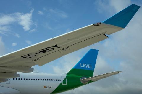 Un avión de la aerolínea Level Europe