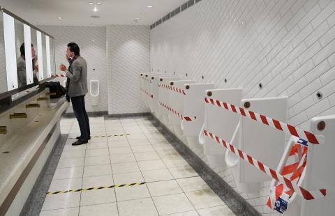 Baño público durante el coronavirus