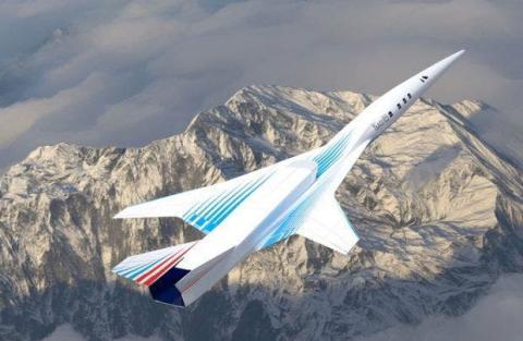 Uno de los bocetos del avión supersónico ruso