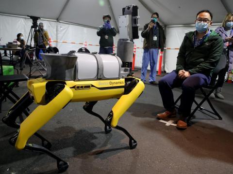 Boston Dynamics Spot robot.