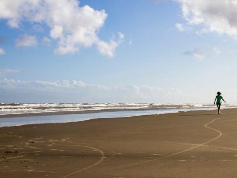 Prepárense para una larga caminata por la playa.