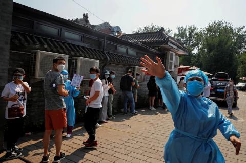 Brote de coronavirus en Pekín.