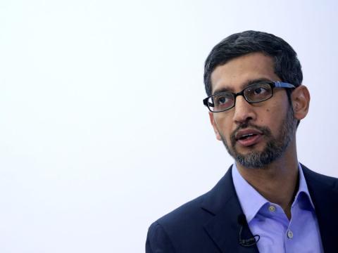 El CEO de Google, Sundar Pichai.