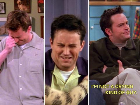 Chandler lloró dos veces durante la cuarta temporada, pero dice que no puede llorar en la sexta temporada.