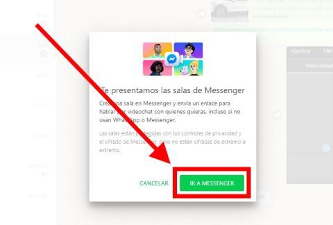 Cómo hacer videollamadas de Messenger Rooms desde WhatsApp Web