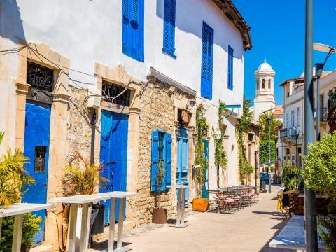 A street in Limassol, Cyprus.