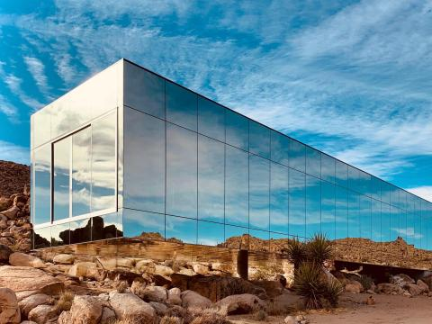Designed by American Psycho film producer Chris Hanley and architect Tomas Osinski, the Invisible House holds true to its name.