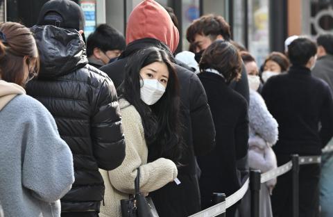 El distrito comercial de Dongseongro en Daegu el 27 de febrero.