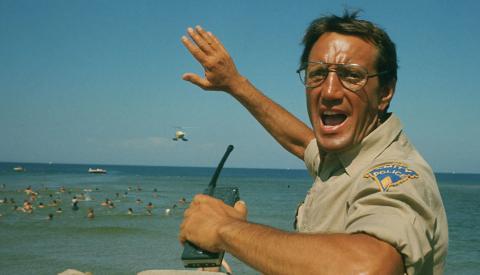 Escena de la película Tiburón (1975)