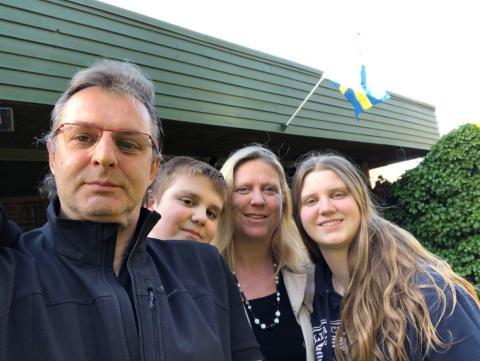 Eva Panarese y su familia.
