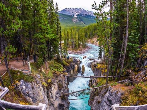 El Parque Nacional Jasper cuenta con impresionantes vistas.
