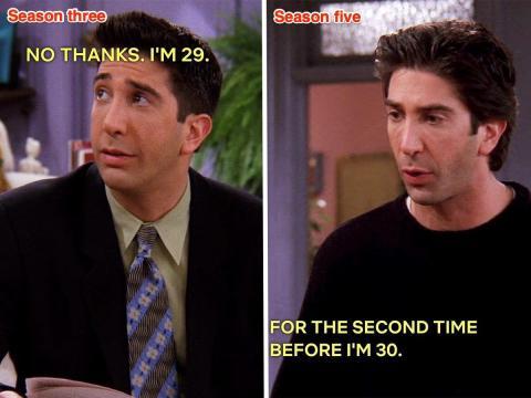 Ross en 'El de cuando Monica y Richard sólo son amigos' y 'El que Phoebe odia la PBS'..