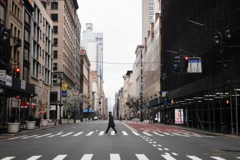 Quinta Avenida en el centro de Manhattan el 25 de marzo.