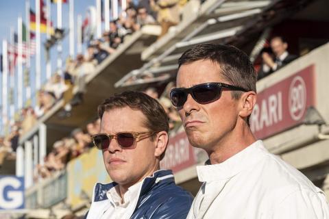 Matt Damon y Christian Bale en Le Mans '66