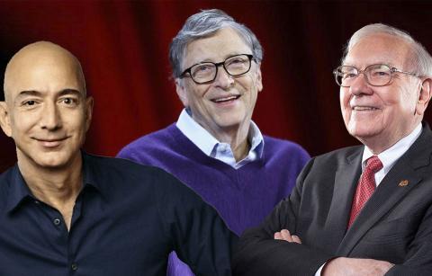 Gente rica: Jeff Bezos, Bill Gates y Warren Buffet