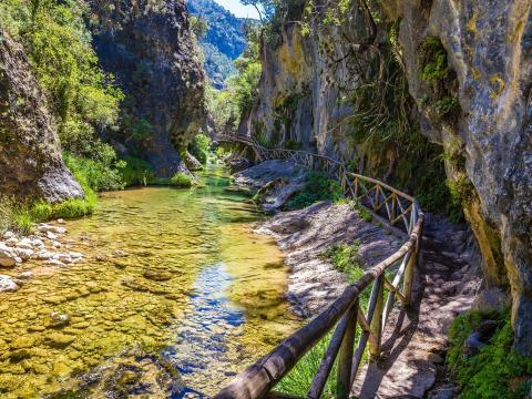 El parque nacional ofrece muchas oportunidades para practicar senderismo.