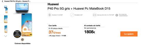 Oferta pack exclusivo de Huawei y Orange