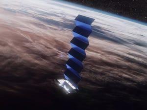 Ilustración del satélite Starlink de SpaceX en órbita desde el espacio