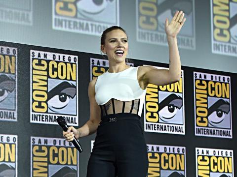 Scarlett Johansson en la Comic Con.
